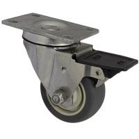 73TP30GY9006HY - 3 x 1-1/4 Stainless Steel Swivel Caster