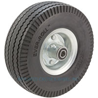 "ER10B0P2 - 10"" Urethane Hand Truck Wheel 5/8 Ball Bearings Offset Hub"