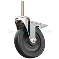 "S7HP50GB8276YY - 5"" x 1-1/4"" Total Lock -Stainless Steel Swivel Caster"