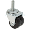 "01HR20AB8168YY - 2"" Dual Wheel Swivel Caster 1/2""-13 Threaded Stem"