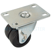"01PO20AB8106RY - 2"" Dual Wheel Caster - Plastic Wheel - Thumb screw brake"