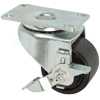 "03PO25IB8206VY - 2-1/2x1-1-13/16"" Swivel Caster Low Profile With Brake 400lbs Capacity"
