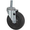 "09SR40DB8168YY - 4"" x 1"" Swivel Caster 1/2"" Threaded Stem"