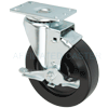 "13HP50GB8206TY - 5"" x 1-1/4"" Swivel Caster Polyolefin Wheel - Brake"