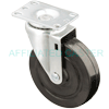 "13SR50GB8206YY - 5"" x 1-1/4"" Swivel Caster Soft Rubber Wheel"