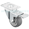 "17NM30GI4306YY - 3"" x 1-1/4"" Total Lock Swivel Caster Plate Mount"