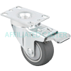 "17NM30GI4406YY - 3"" x 1-1/4"" Total Lock Swivel Caster Plate Mount"