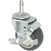 "23PP30GT9091TY - 3"" x 1-1/4"" Swivel Caster - Polyurethane Wheel - brake"