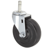 "23SR40GB4291YY - 4"" x 1-1/4"" Swivel Caster -Grip Ring Stem"