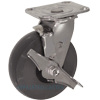 "31HU60JI7217TY - 6"" x 2"" S.S. Swivel Caster - Solid Elastomer Wheel - Plate Mount"