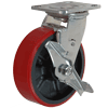 "31MU60JK0517TY - 6""x2"" S.S. Swivel Caster - Polyurethane on Glass Nylon  Wheel"