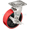 "31MU60JK5717TY - 6"" x 2"" S.S. Swivel Caster - Polyurethane on Glass Nylon  Wheel"