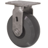 "32HU60JI7217YY - 6""x2"" S.S. Rigid Caster - Solid Elastomer Wheel - Plate Mount"