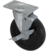 "3650-01-SR-TLB - 5"" x 1"" Swivel Caster - Soft Rubber Wheel"