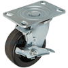 "43PH50JB0419TY - 5"" x 2"" HD Swivel Caster Phenolic Wheel- Brake"