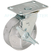 "43SS60JS0419TY - 6"" x 2"" Swivel Caster - Wheel Brake"