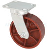 "45DS60JR0417YY - 6"" x 2"" Kingpinless Swivel Caster with Ductile Steel Wheel"