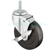 "5050-22-HR-TLB - 5"" x 1-1/4"" Swivel Caster - Tread Lock Brake"
