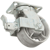 "57SS60LS2419FY - 6"" x 3"" Swivel Caster Face Brake"