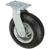 "67FP8A4C5317YY - 8"" x3"" Swivel Caster - Pneumatic Wheel - Plate Mount"