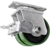 "D2PU60QG2425FY - 6 x2-1/2"" X 2 Dual Wheel Swivel Caster Brake"