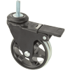 "MS30BI31HY - 3"" Swivel Caster - 5/16""-18 x 1"" Threaded Stem - Wheel Brake"