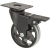 "MS30BIP2HY - 3"" Swivel Caster - Plate Mount - Brake"