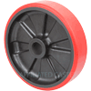 "MU80JK84 - 8"" x 2"" Poly on Glass Filled Nylon Wheel"