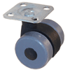 "OTW-N-1400-BLKTPNGRA - 1-5/16"" (33mm)Twin Wheel Caster"