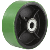 "PU80LG24 - 8"" x 3"" Polyurethane On Steel Wheel"