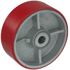"PU80LV24 - 8"" x 3"" Polyurethane On Steel Wheel"