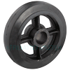 "RS10KB85 - 10"" x 2-1/2"" Rubber on Iron Wheel -3/4"" Roller Bearing"