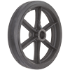 "RS16LB85 - 16"" x 3"" Rubber on Steel Wheel"