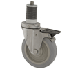 "S5250-26-PPPG-PWB - 5"" x 1-1/4"" Stainless Steel -  Expansion Stem Caster - Poly Wheel - Brake"