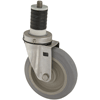 "S5250-26-PPPG - 5"" x 1-1/4"" Stainless Steel -  Expansion Stem Caster - Poly Wheel"