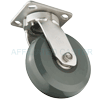 "S5HU60JI7217YY - 6"" x 2"" S.S. Kingpinless Swivel Caster - Solid Elastomer Wheel"