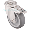 "SSBHTLB515ELDEL - 5"" x 1-1/2"" Stainless Steel Locking Swivel Caster"