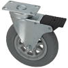 "T3CR60GI4206YY - 6-1/4"" x 1-1/4"" Total Locking Swivel Caster"