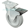 "T3NM50GI4306YY - 5 x 1-1/4"" Total Lock Swivel Caster"