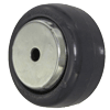 "W-73-PSE - 3"" x 1-3/8"" Solid Elastomer Wheel 3/8"" Ball Bearings"