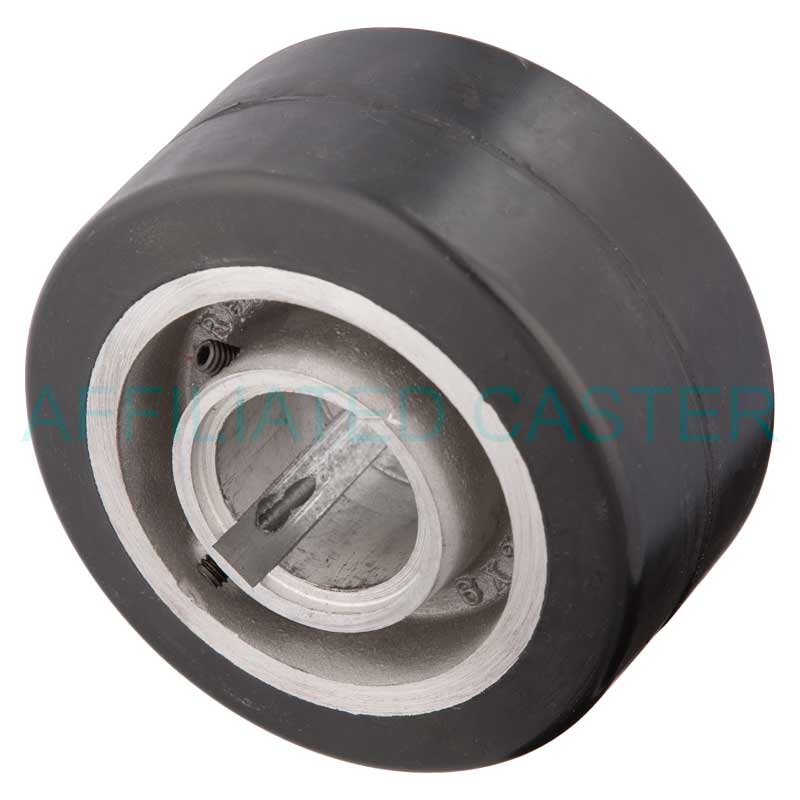 11063 6 Quot X 3 Quot Rubber On Aluminum Keyway Caster Wheel