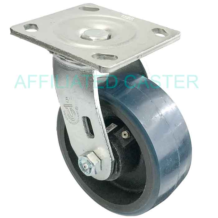 Poly on Poly Wheel 5 X 2 Swivel Plate Total Lock Caster