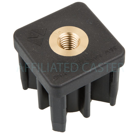 Te b quot square tube end threaded caster wheel