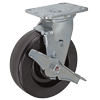 "27PH60JB0417TY - 6"" x 2"" Swivel Caster - Phenolic Wheel - Wheel Brake"