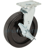 "27PH80JB0417TY - 8"" x 2"" Swivel Caster Phenolic With Brake"