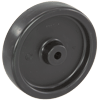 "4114-1 - 4"" Polyolefin Wheel - Hard Plastic"