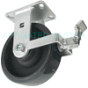 "54SW80QU2419FY - 8"" x 2-1/2"" Rigid Caster with Brake"