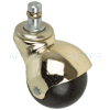 "HB2B - 2"" Brass Hooded Ball Caster"