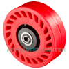 "UOB-0620-08 - 6 x 2"" Poly on Steel Wheel"